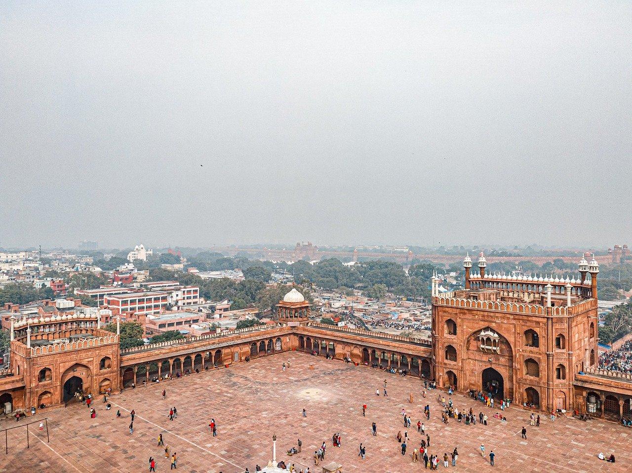 המסגד הגדול בדלהי הודו